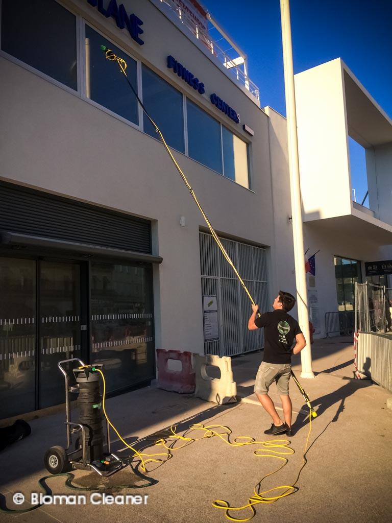 Nettoyage de vitres en hauteur -
